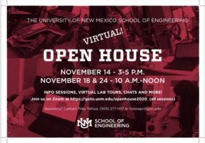 UNM Virtual OPEN House